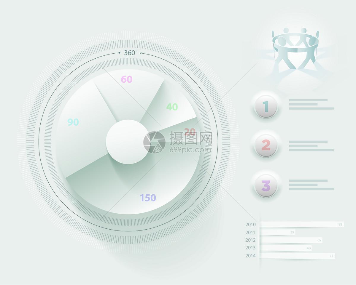 圆盘数据图表矢量图