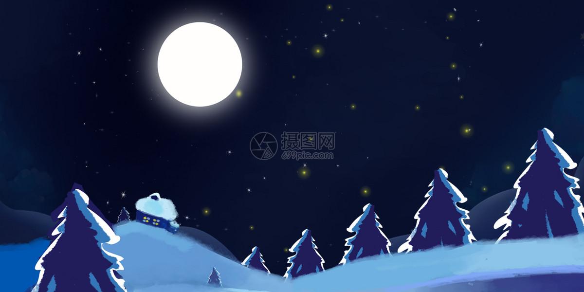 平安夜圣诞节海报背景