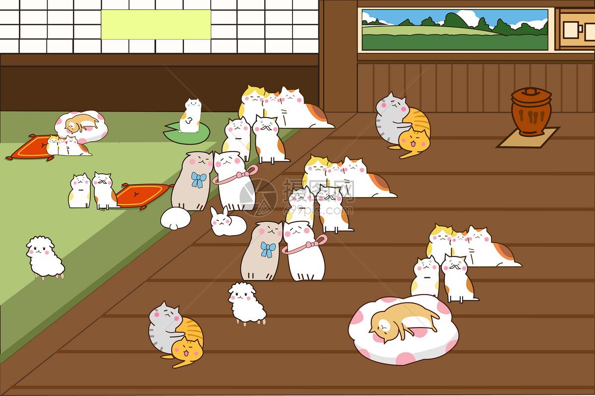 人物情感 可爱猫咪手绘插画ai  分享: qq好友 微信朋友圈 qq空间 新浪