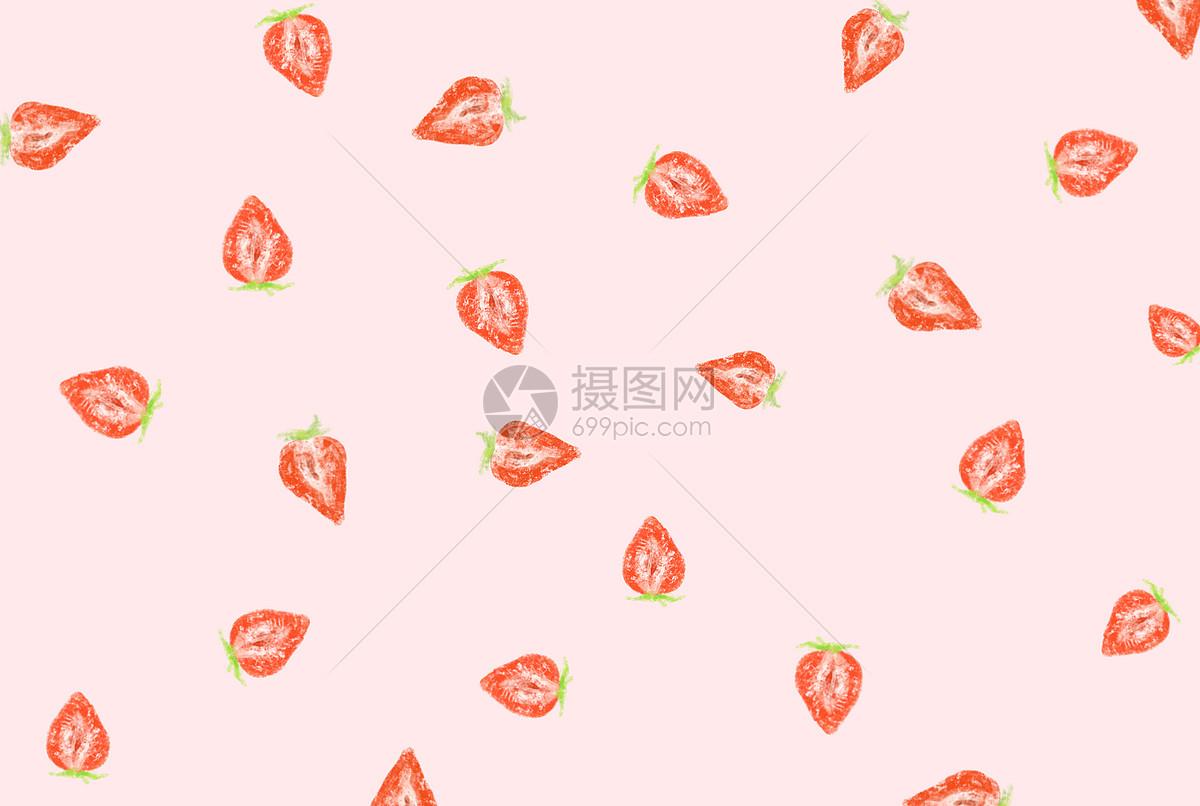 手绘草莓壁纸
