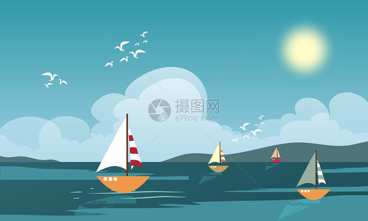 扬帆远航矢量图片素材_免费下载_cdr图片格式_vrf高清图片