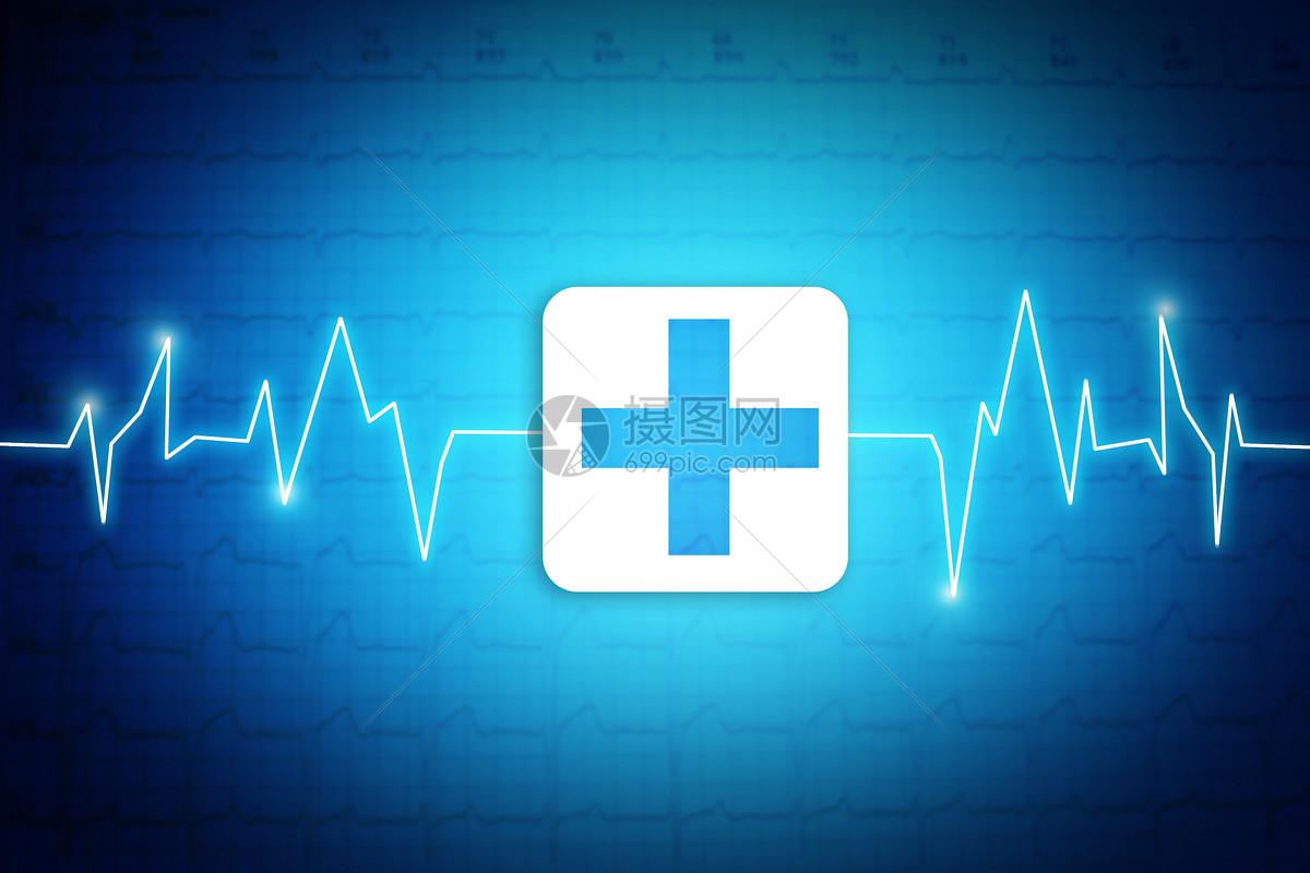 唯美图片 健康医疗 蓝色心电图背景psd  分享: qq好友 微信朋友圈 qq图片