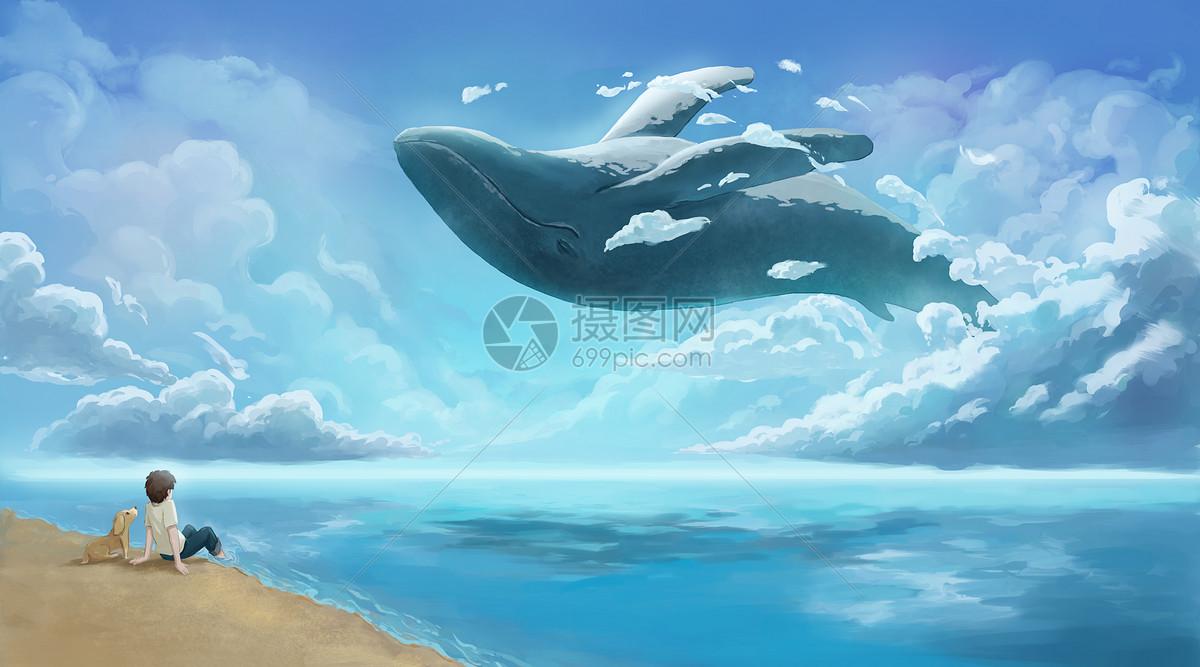 云端的鲸鱼图片素材_免费下载_psd图片格式_vrf高清图片400074125_摄