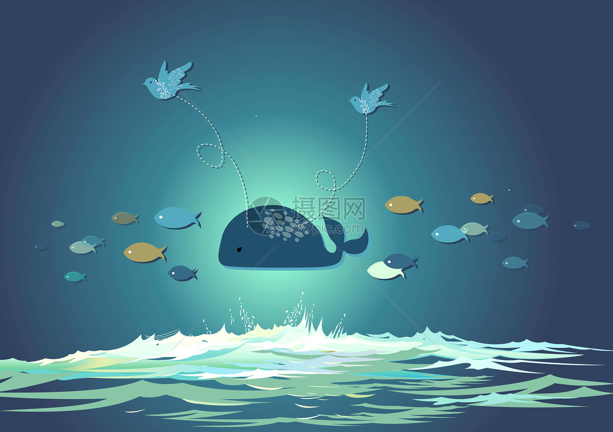 鯨魚夢幻手繪宮崎駿