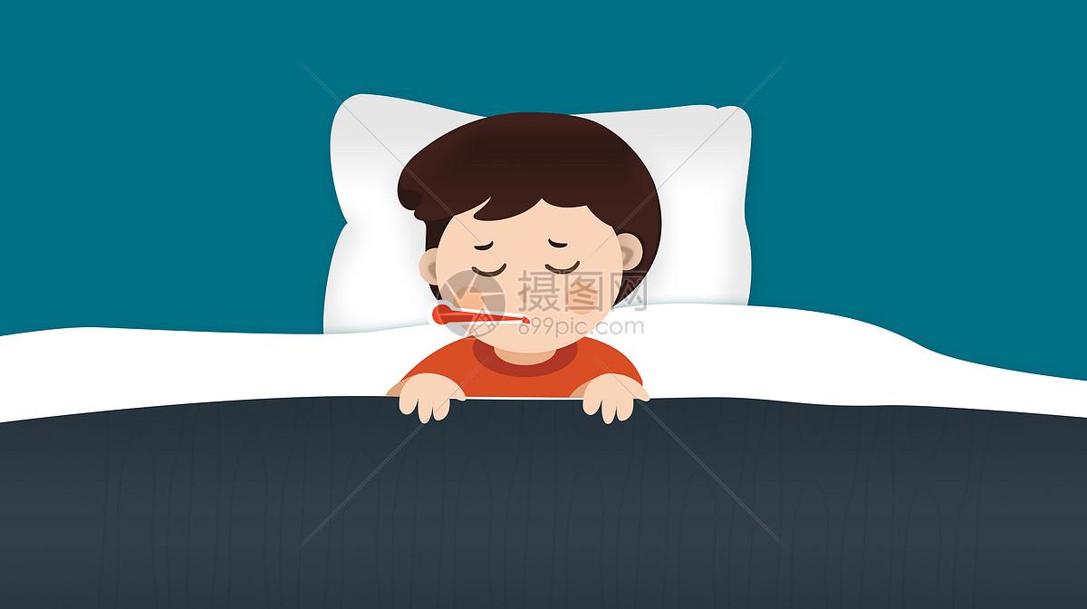 感冒生病的小孩图片素材_免费下载_psd图片格式_vrf