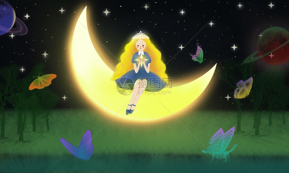 月亮上的女孩