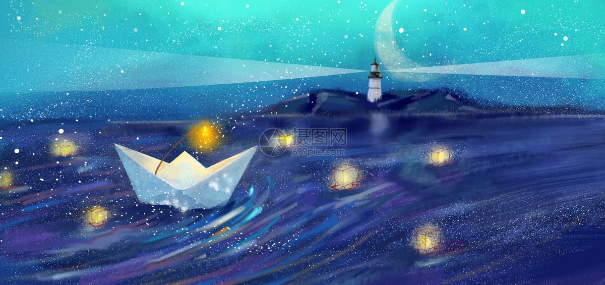 纸船海上历险图片