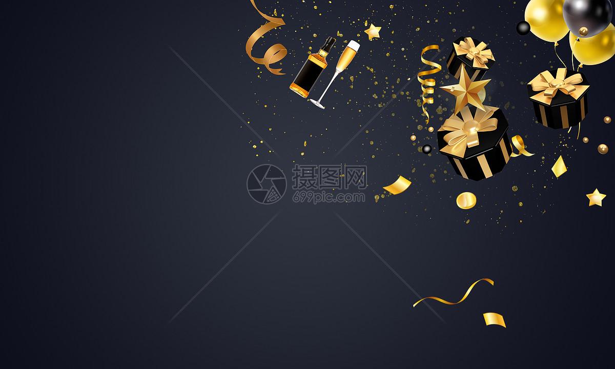 黑金跨年大气背景图片素材_免费下载_psd图片格式_vrf
