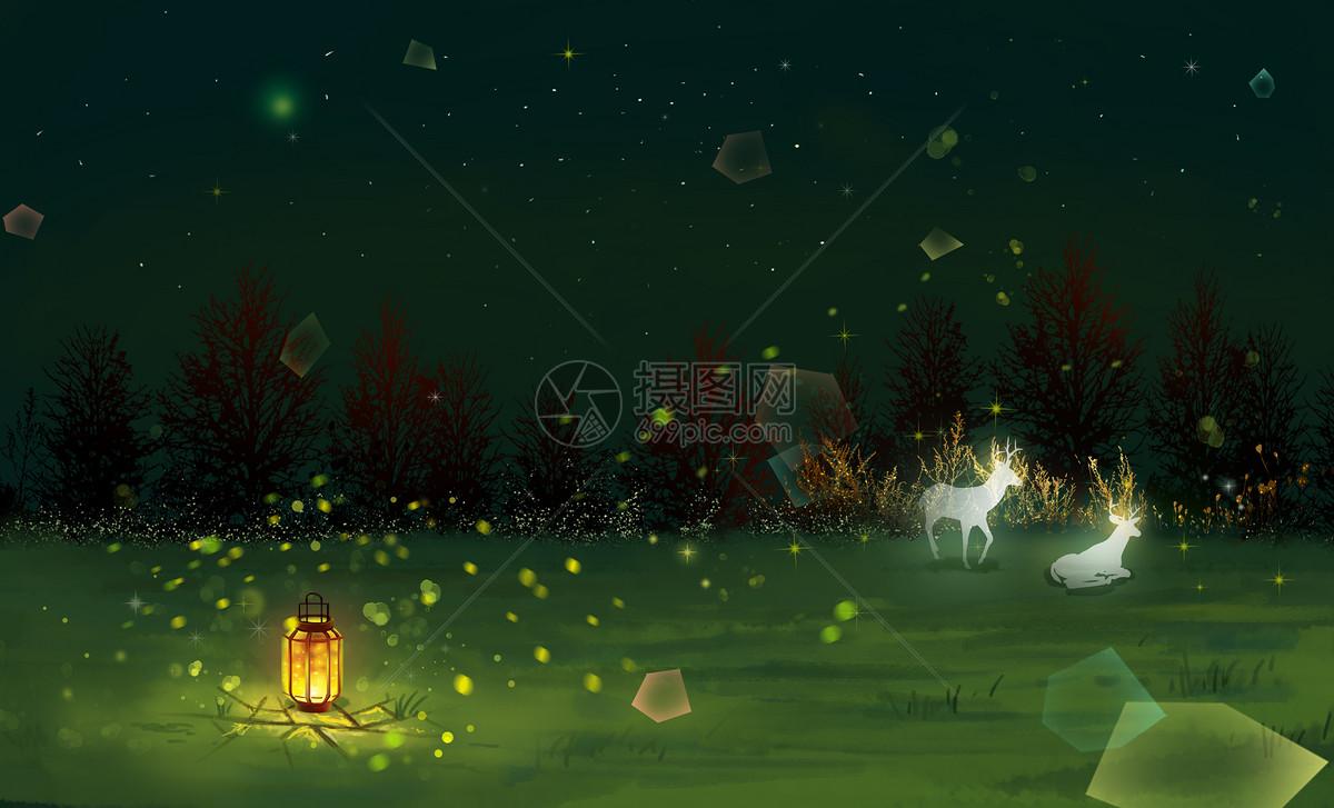 梦幻萤火虫森林