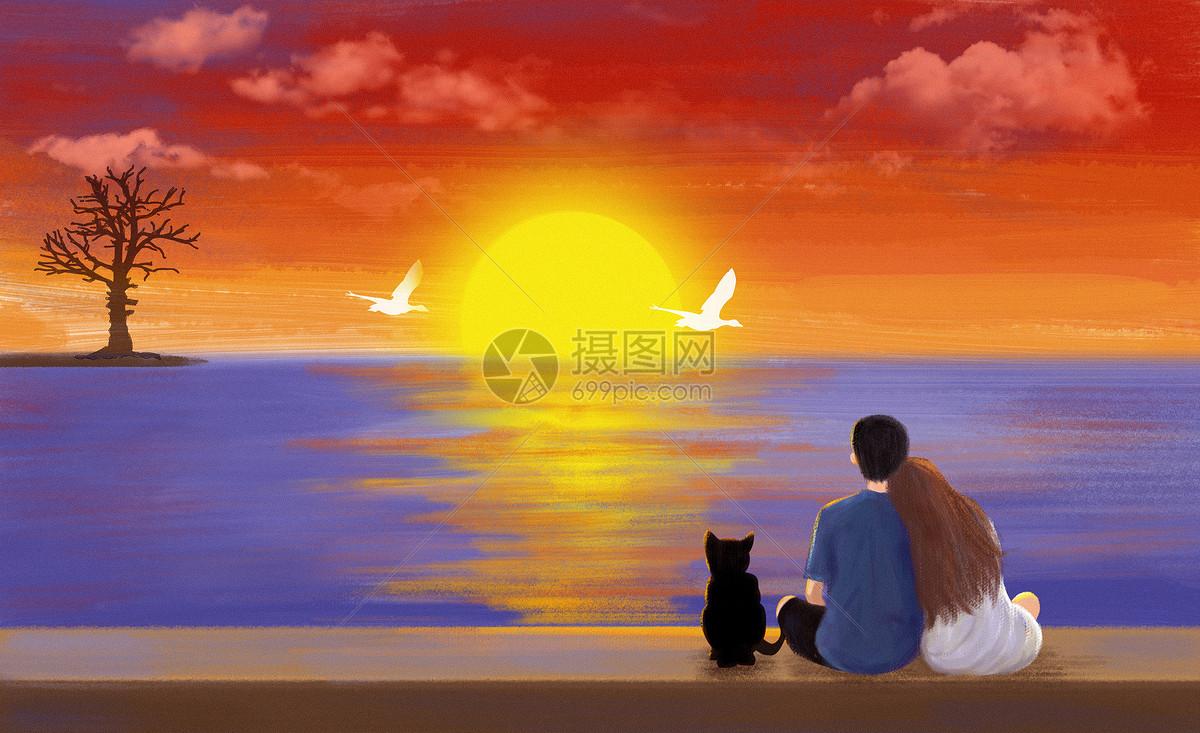 照片 情感表達 夕陽下的情侶psd  分享: qq好友 微信朋友圈 qq空間