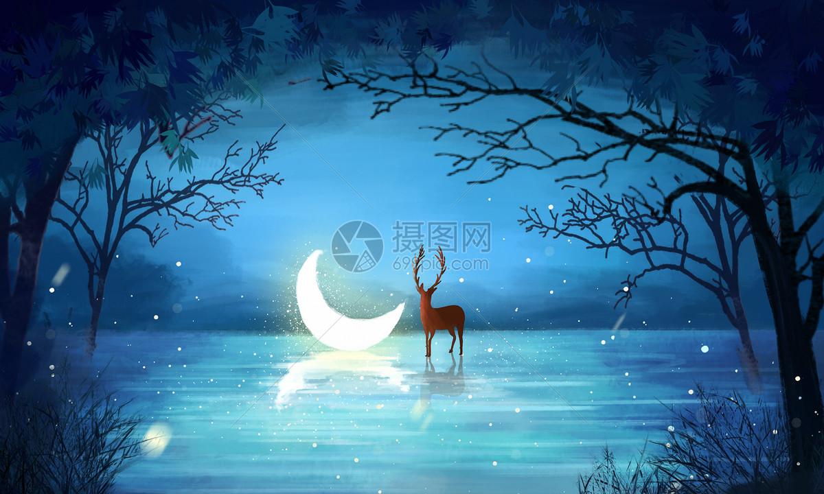 梦幻森林图片素材_免费下载_psd图片格式_vrf高清图片400088504_摄