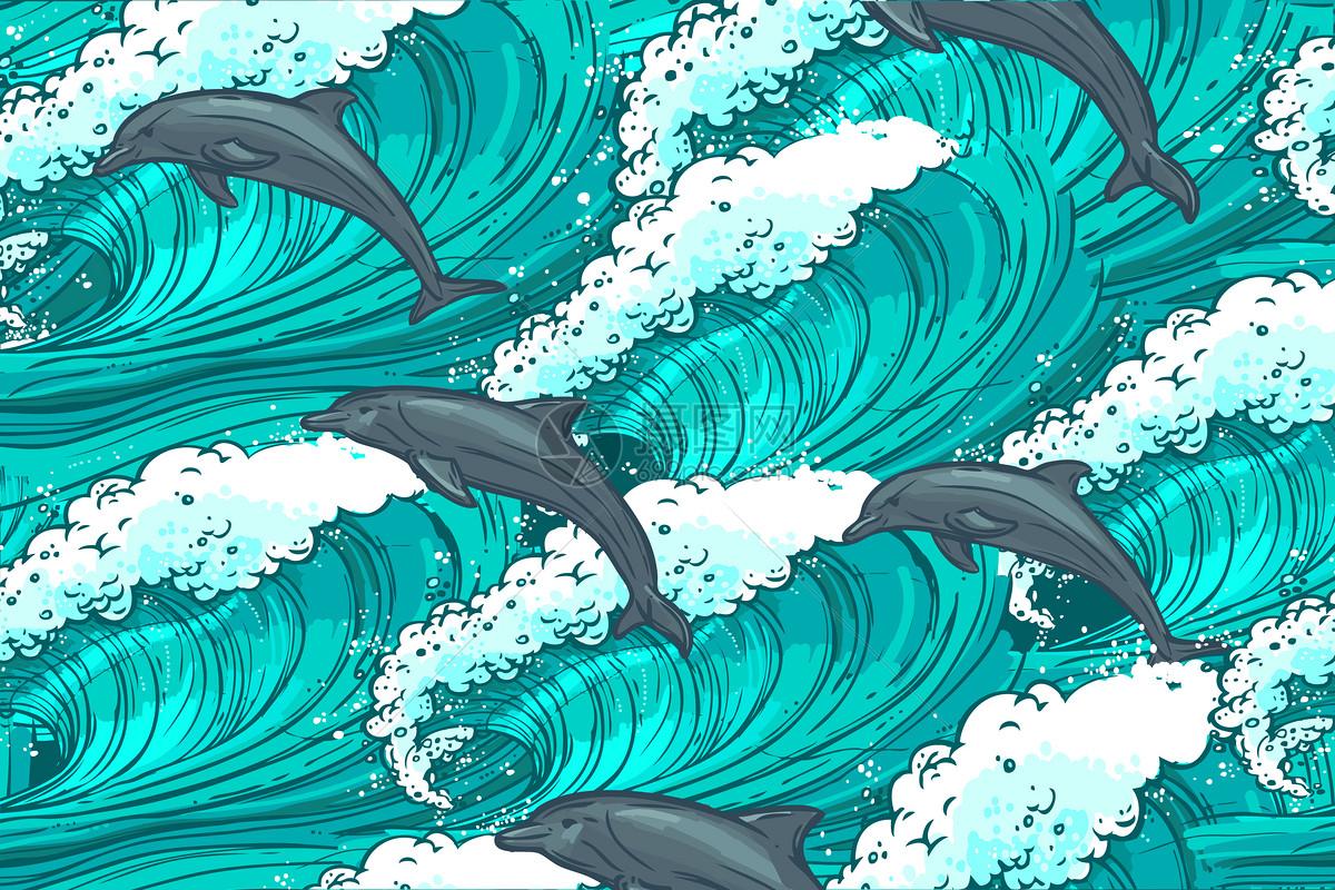 海豚手绘图片素材_免费下载_ai图片格式_vrf高清图片