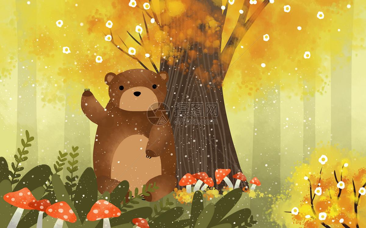 照片 其他 可爱棕熊psd