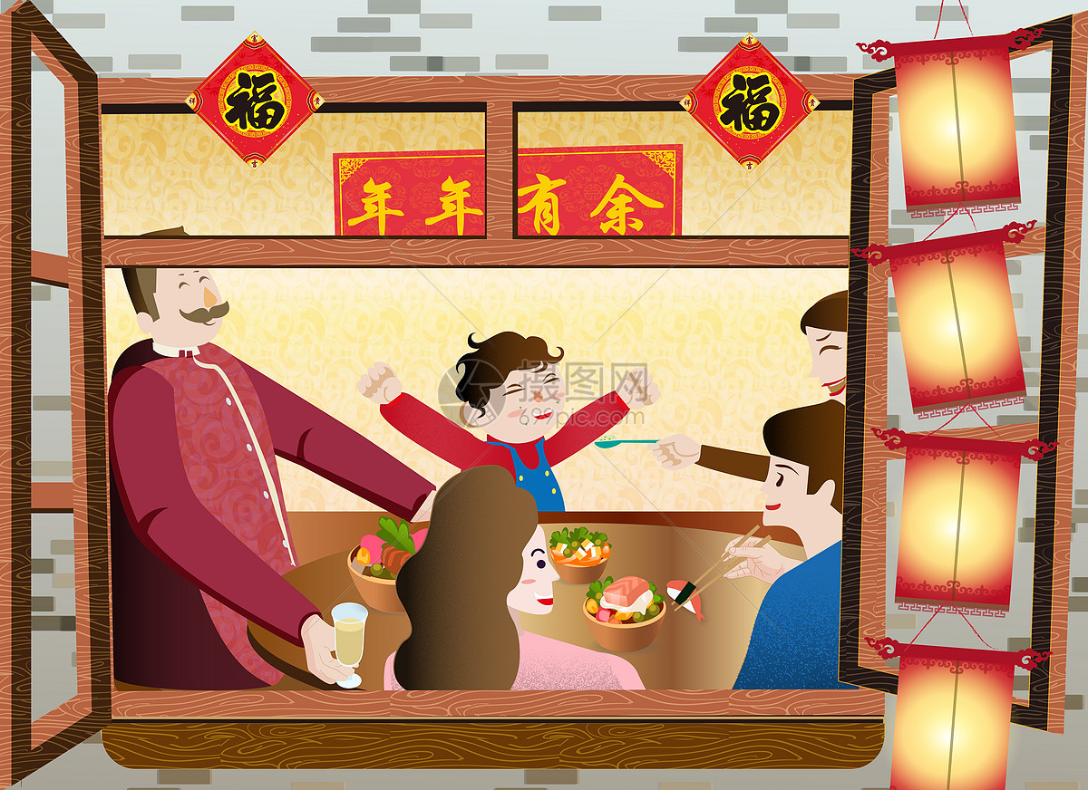 春节团圆饭图片素材_免费下载_ai图片格式_vrf高清_摄