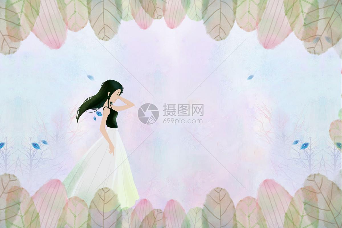 女生的背影