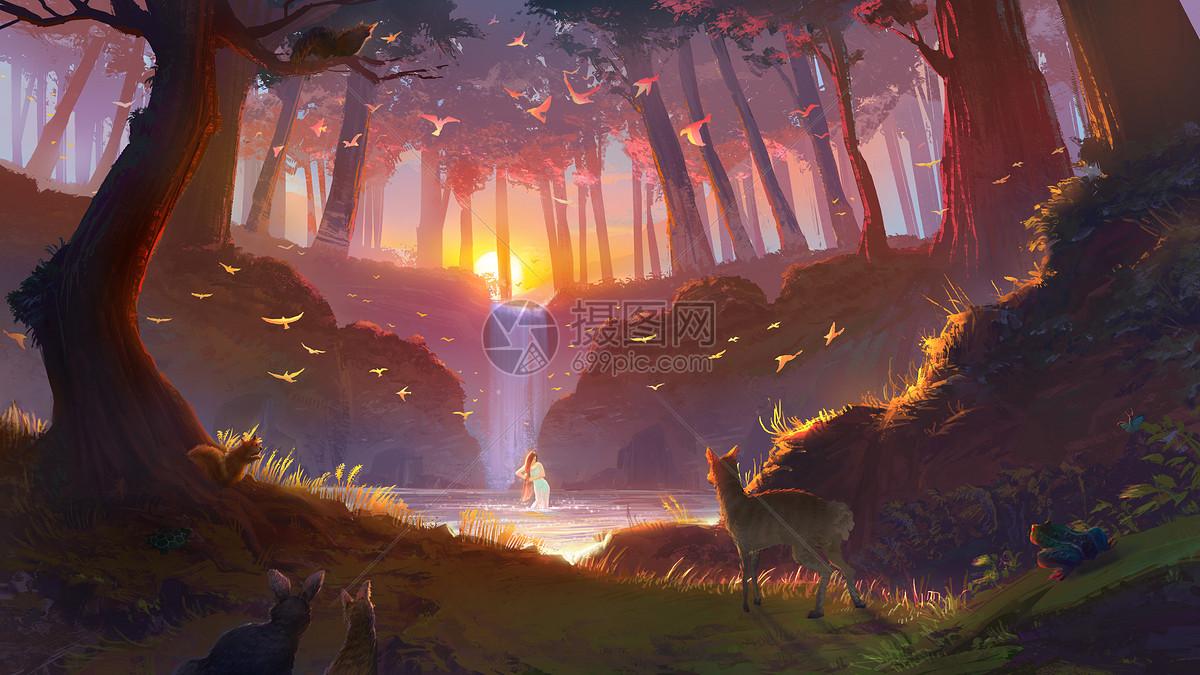 森林景色图片