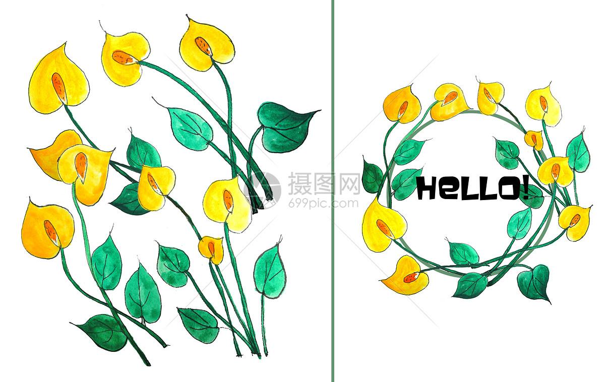 照片 背景素材 手绘水彩花朵psd  分享: qq好友 微信朋友圈 qq空间