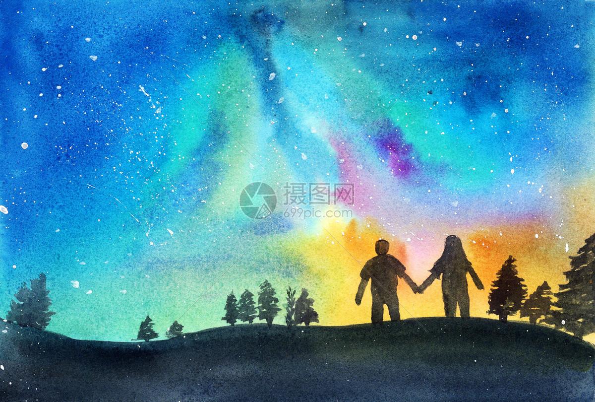 手绘星空小清新水彩手绘星空图片水彩手绘星空图片免费下载显示全部 >