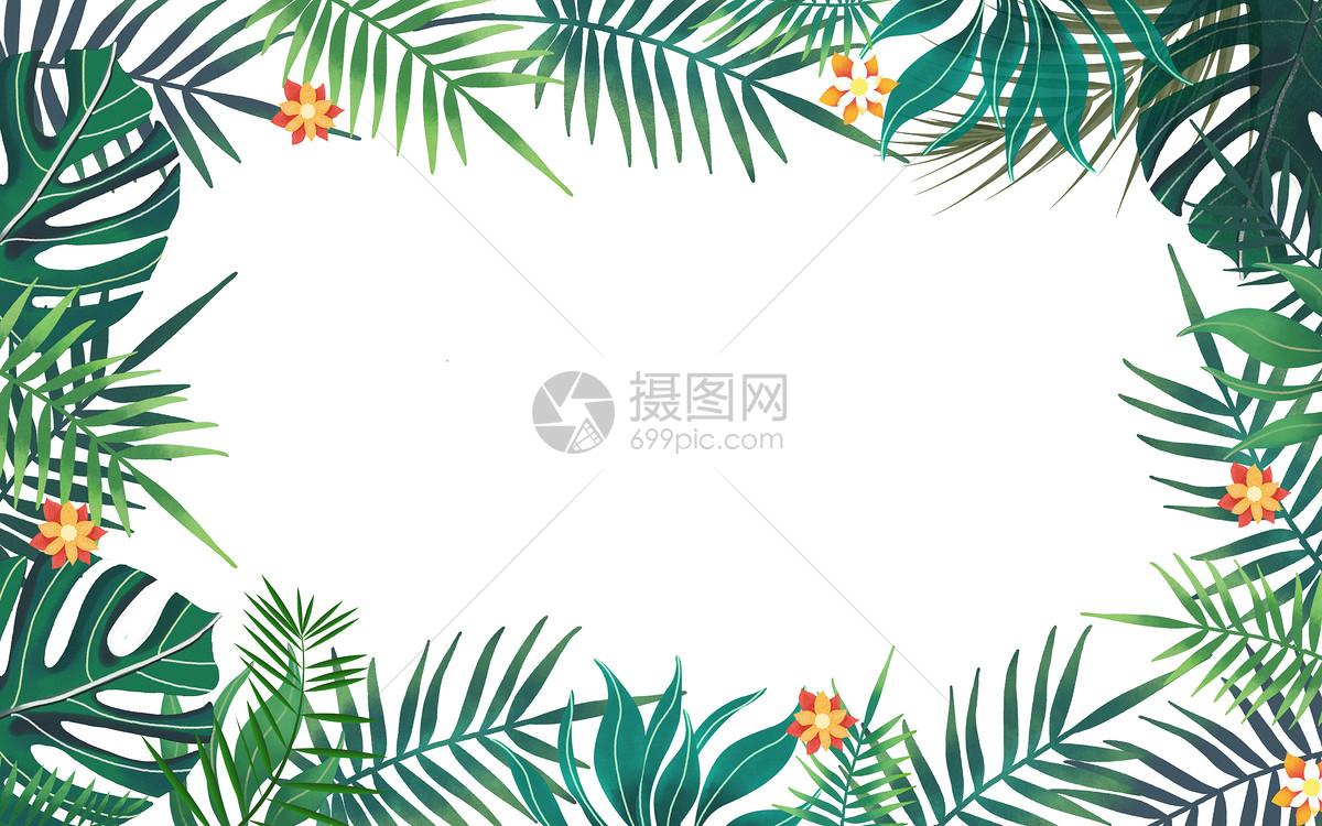 热带叶子背景素材