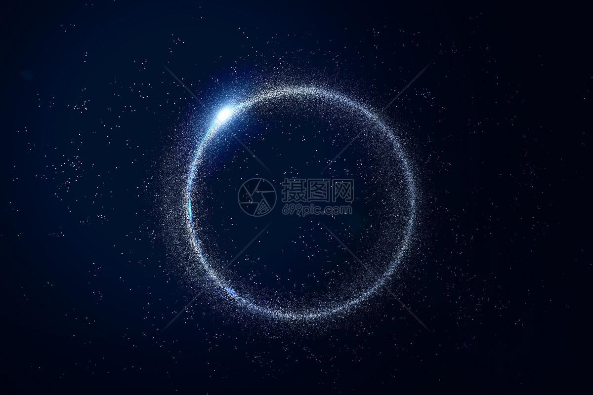 浩渺深邃粒子星空图片