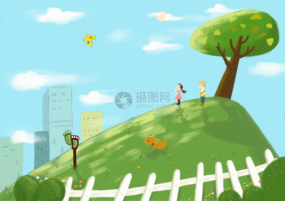 春天放风筝