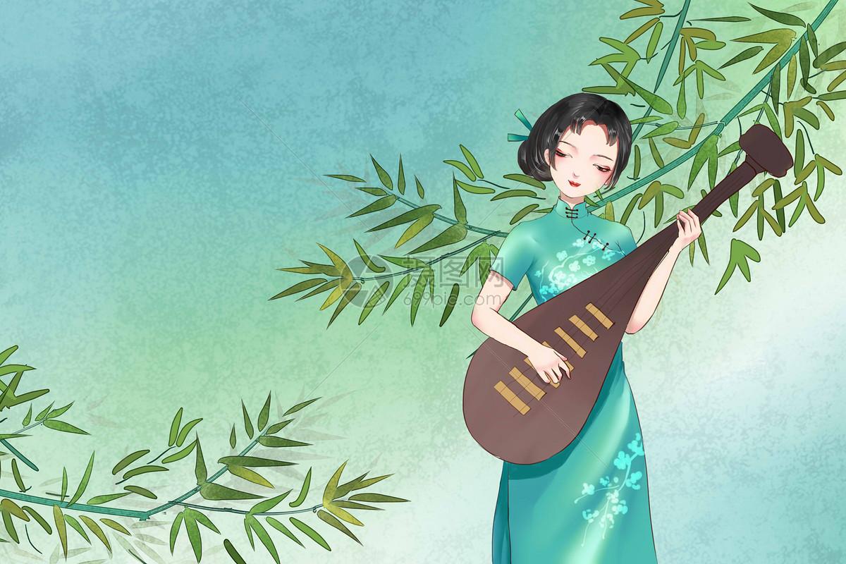 中国风旗袍美女