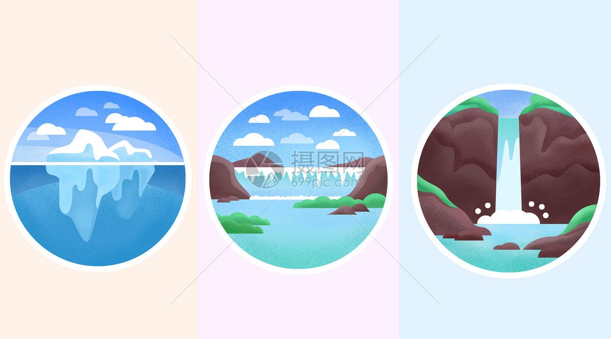 山水风景icon