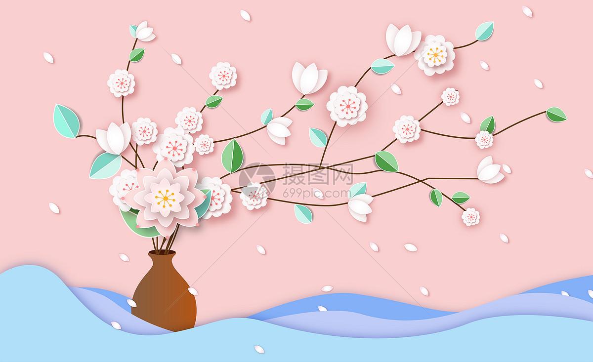 剪纸花卉图片