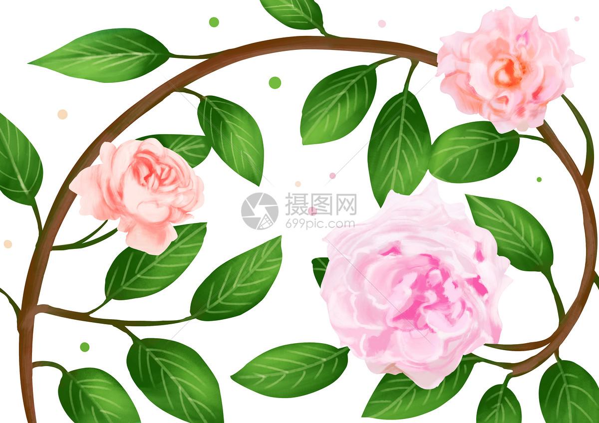 蔷薇花图案素材