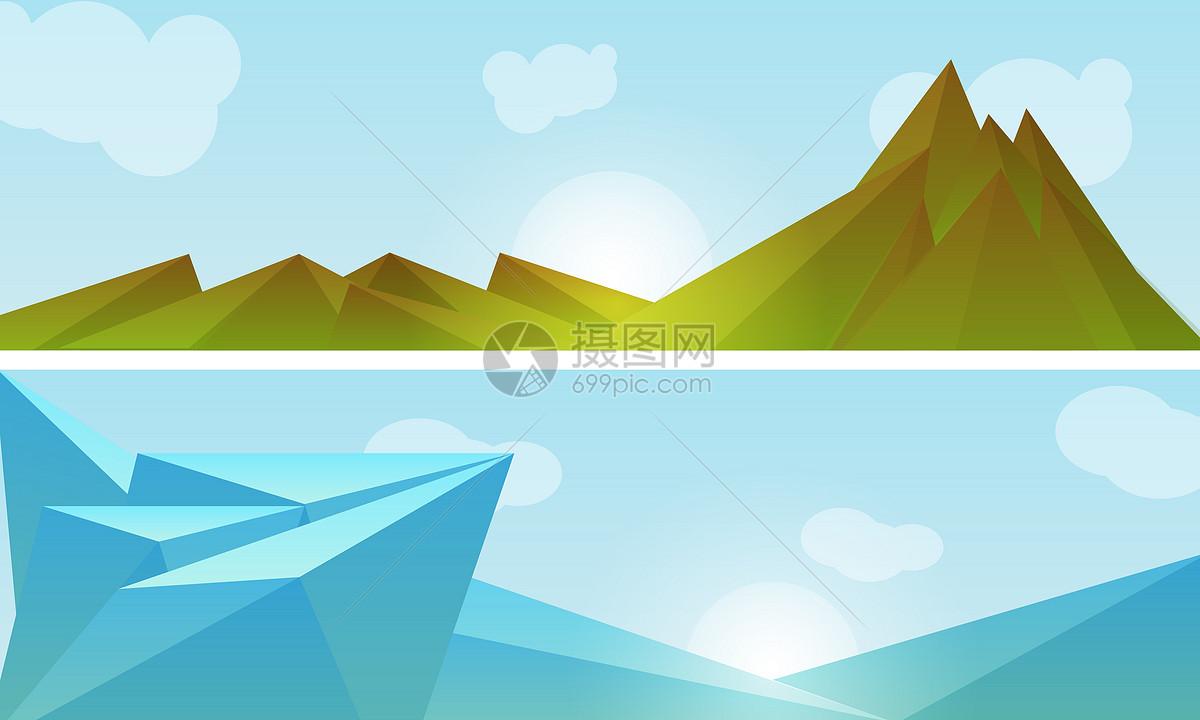 几何山峦背景图片素材_免费下载_ai图片格式_vrf高清