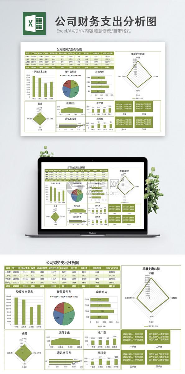 公司财务支出分析图图片