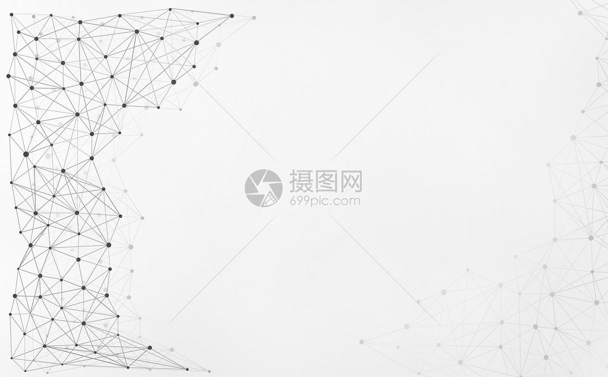 简约网状结构科技背景