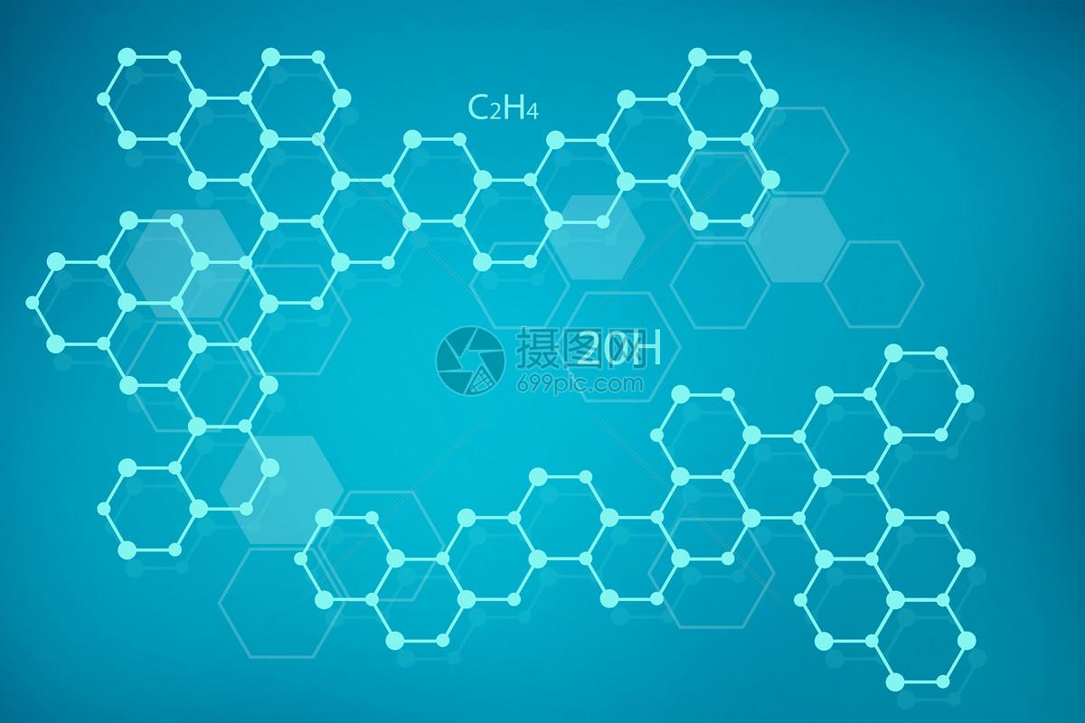 简约分子结构背景