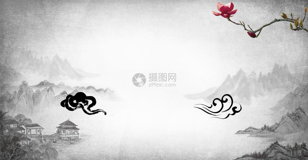 中國風水墨古風背景圖片素材_免費下載_psd圖片格式