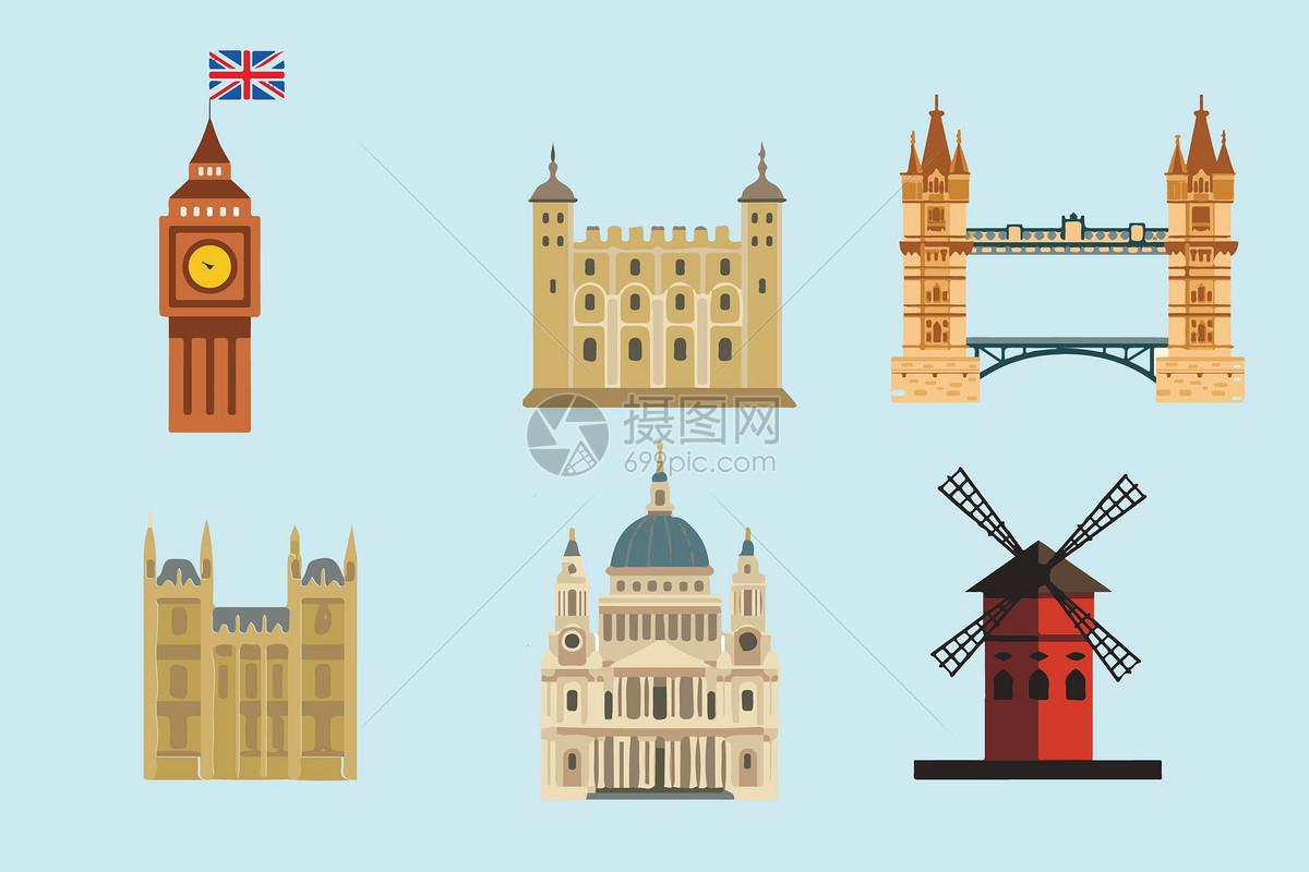 英国建筑背景素材图片