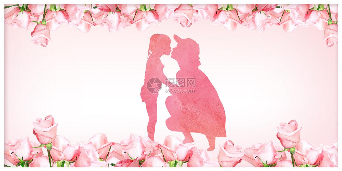 母亲节母爱亲吻表达主题图片