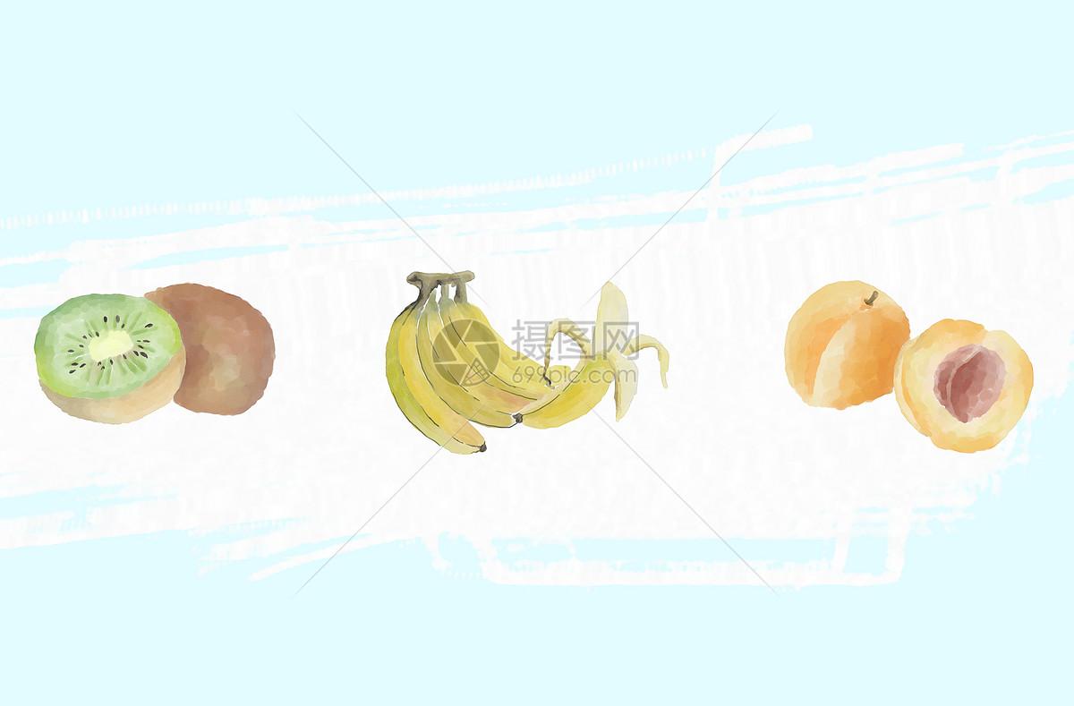 水彩水果素材图片