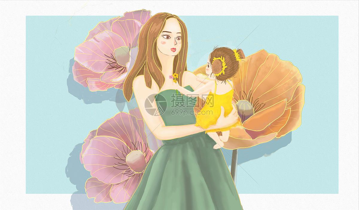 标签: 母亲抱孩子母亲节母亲节手绘母亲节手绘背景母亲节背景素材母爱
