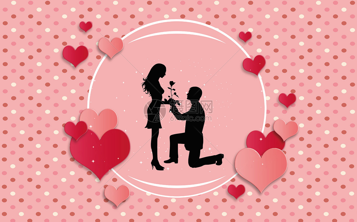 手绘浪漫的微信头像