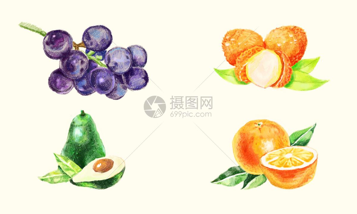 插画 背景素材 手绘水果素材psd  分享: qq好友 微信朋友圈 qq空间