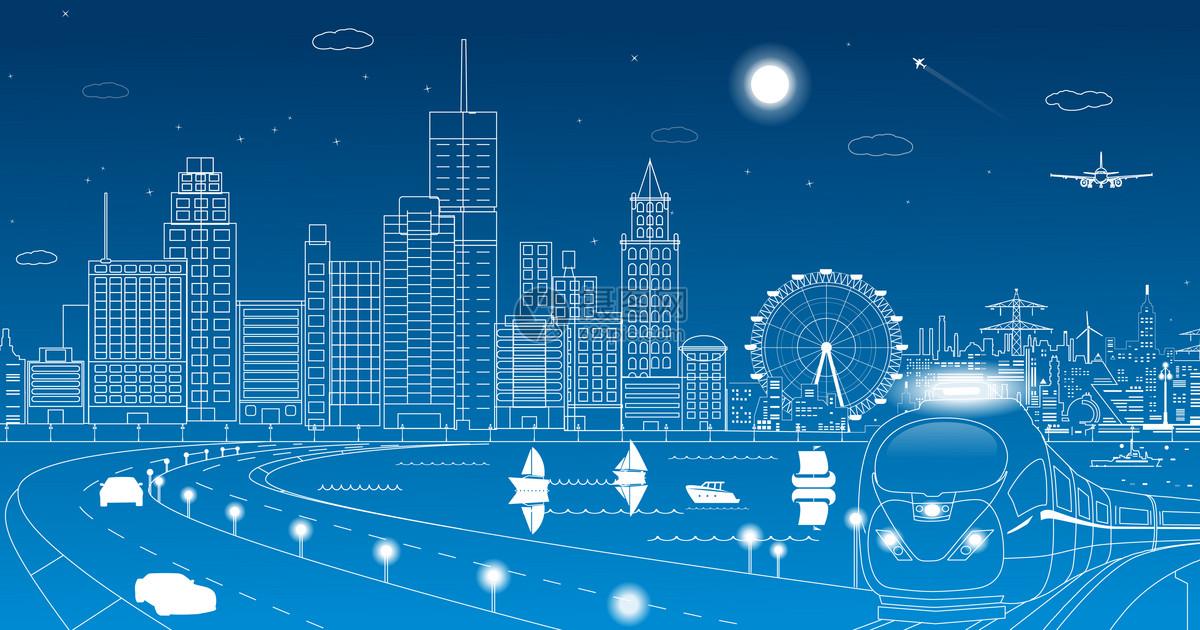 城市图片矢量图