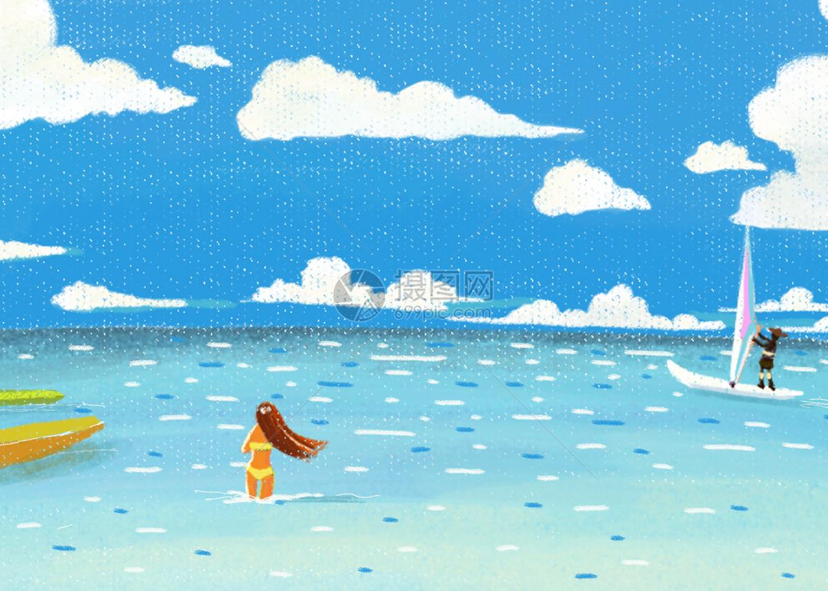 海边游玩图片素材_免费下载_psd图片格式_vrf高清图片