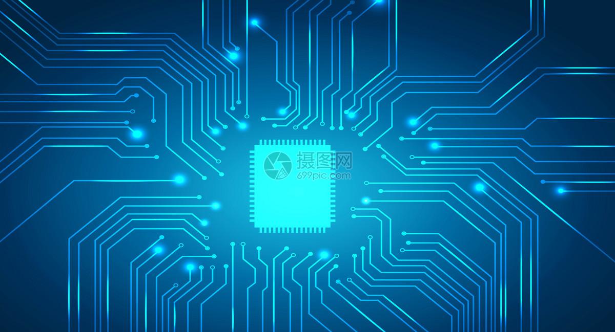 科技电路芯片背景