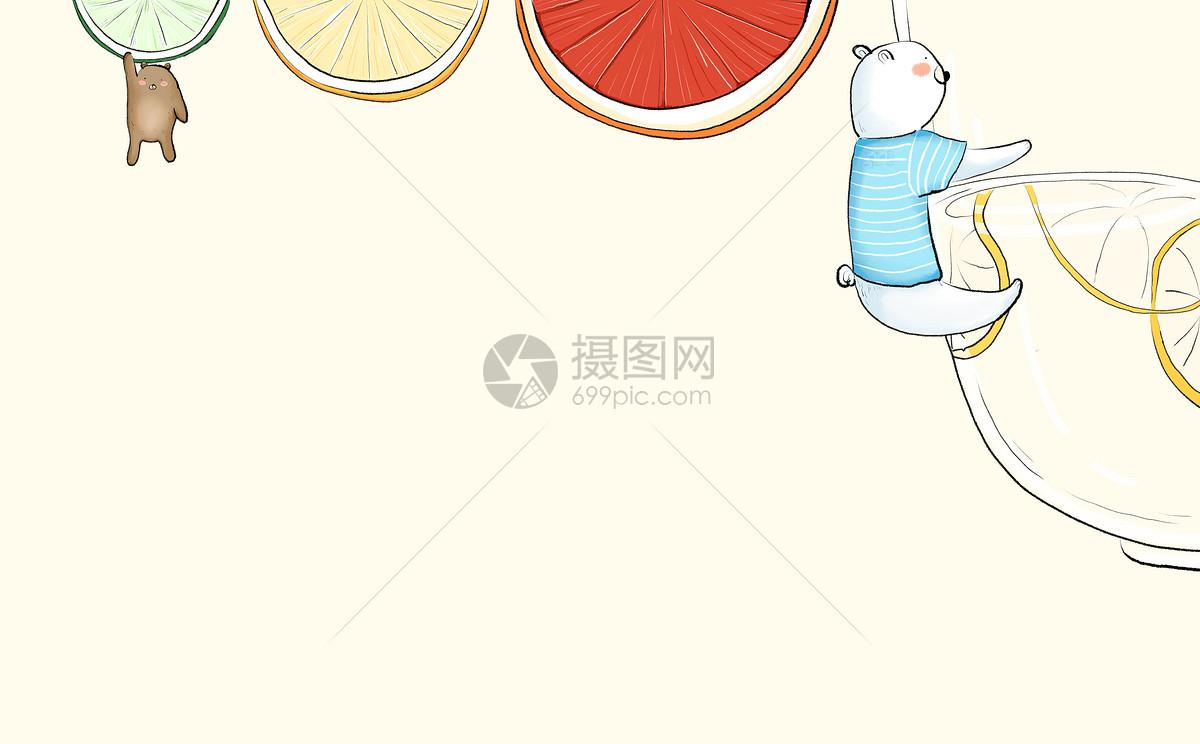 背景素材 清新可爱兔子背景psd  分享: qq好友 微信朋友圈 qq空间