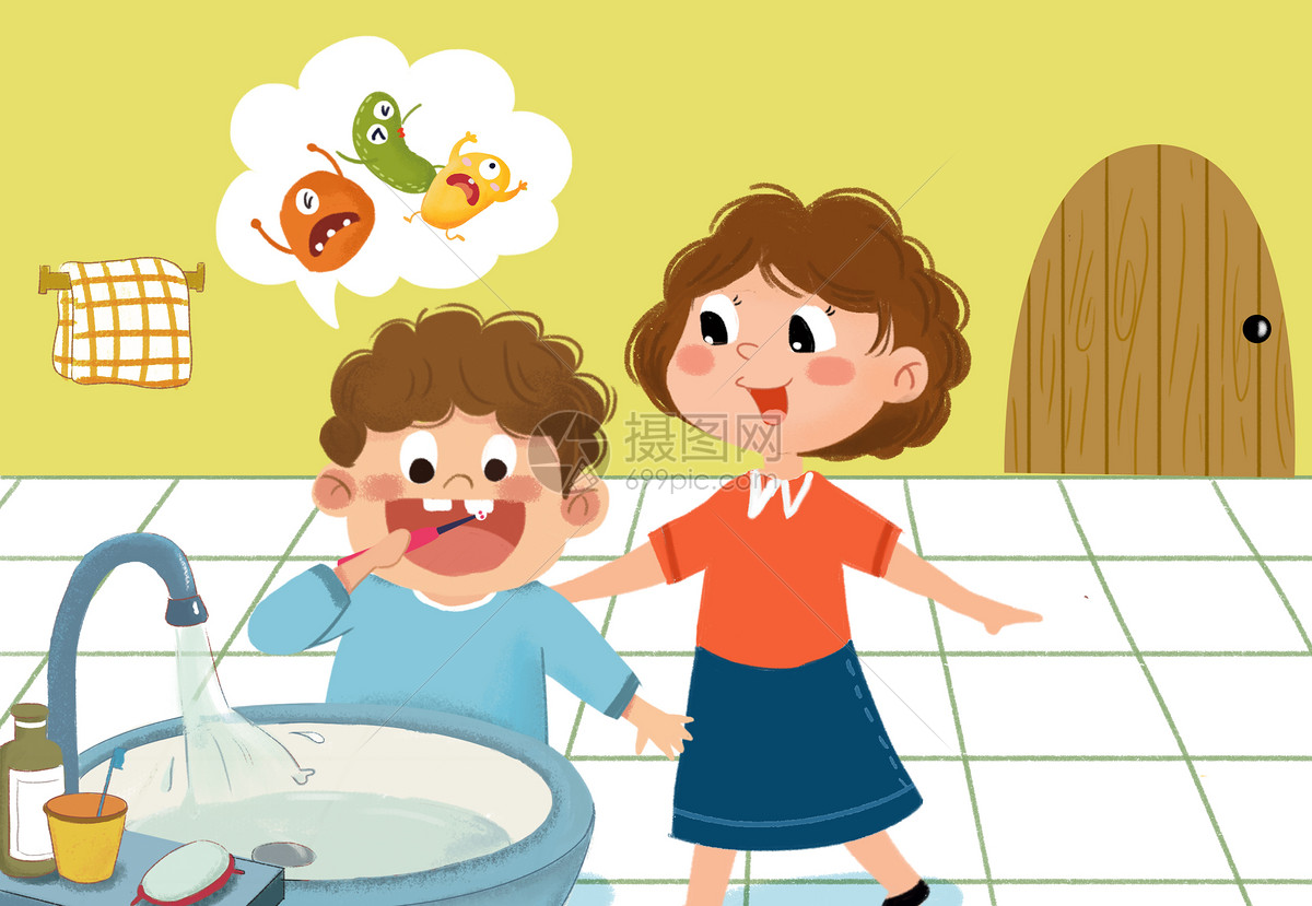 儿童刷牙卫生