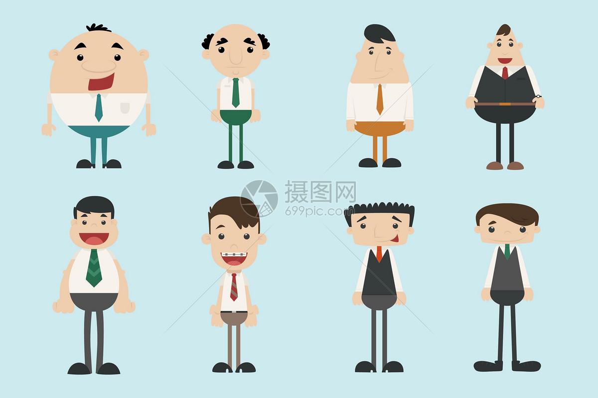 商务服装手绘图