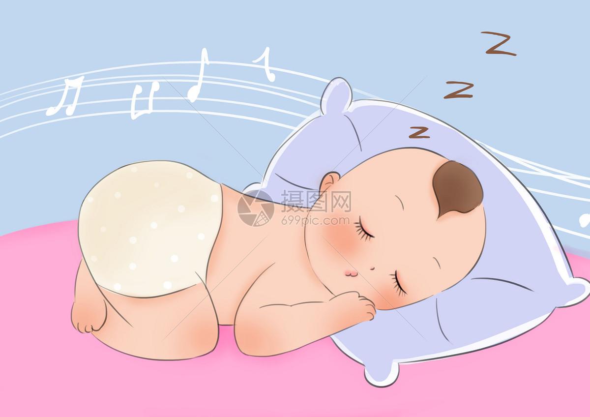 幼儿睡觉图片卡通 幼儿睡觉图片