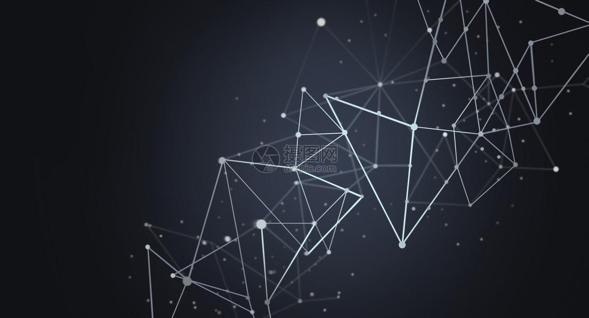 分子几何结构科技背景