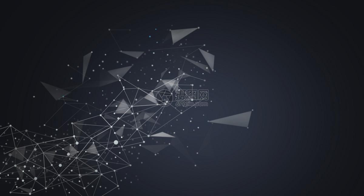 分子几何结构科技背景图片