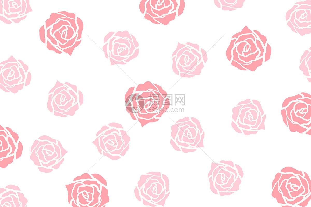 简约玫瑰背景图片